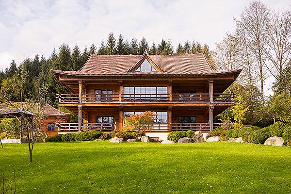 Holzhaus und Blockhaus