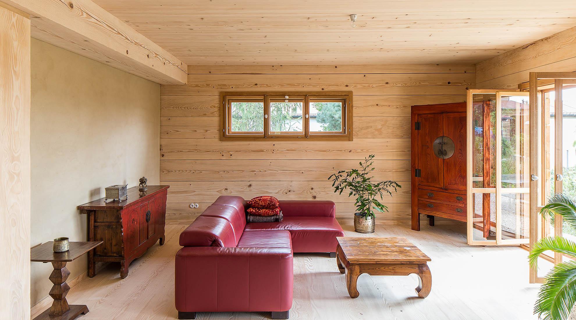 holzhaus und blockhaus gesundes bauen mit holz lehm und. Black Bedroom Furniture Sets. Home Design Ideas
